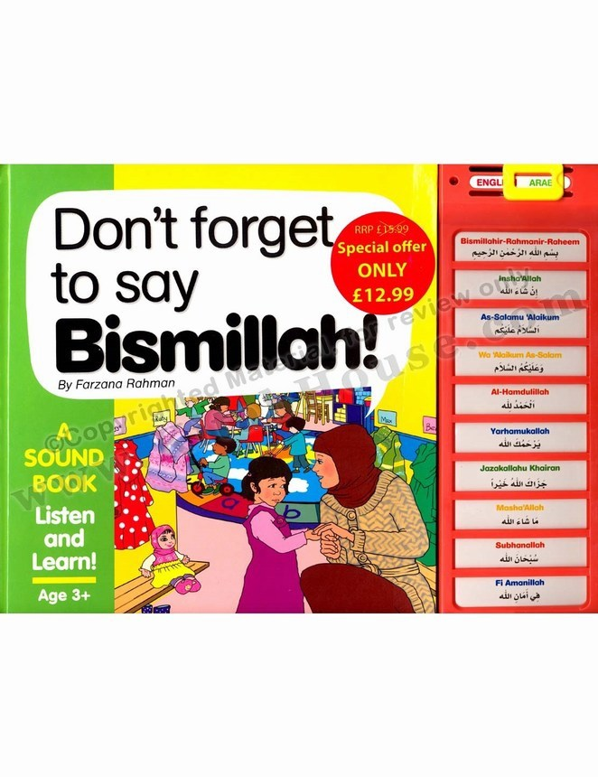 Bismillah Story Sound Book (Don't Forget to Say Bismillah)