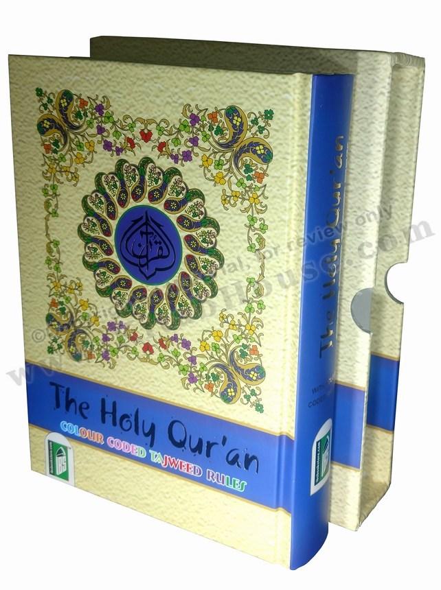 Quran Majeed, 13 Lines, Color Coded Tajweed Rules, Medium with Board Box