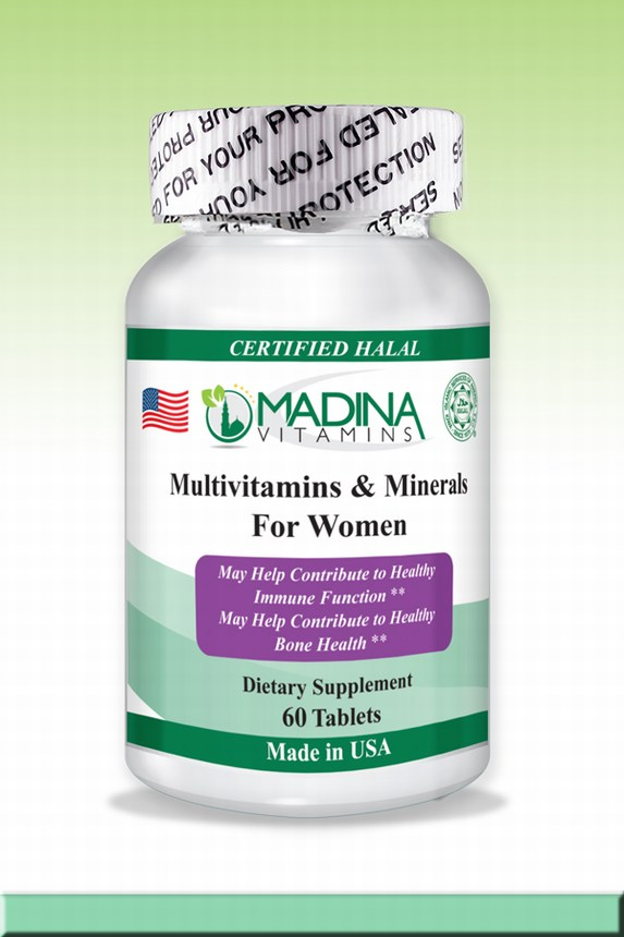 Halal Multi-Vitamins & Minerals for Women with Iron
