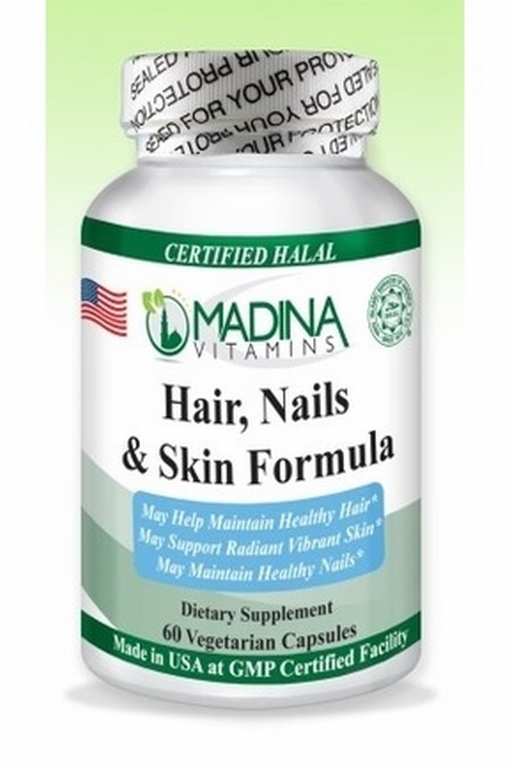 Halal Hair, Nails and Skin Formula Veggie Capsules